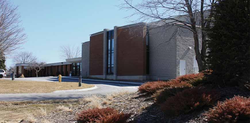 Outside of school building